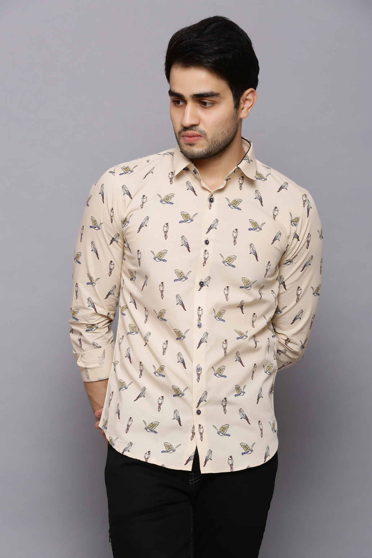 Fly Flew Flown Beige Shirt