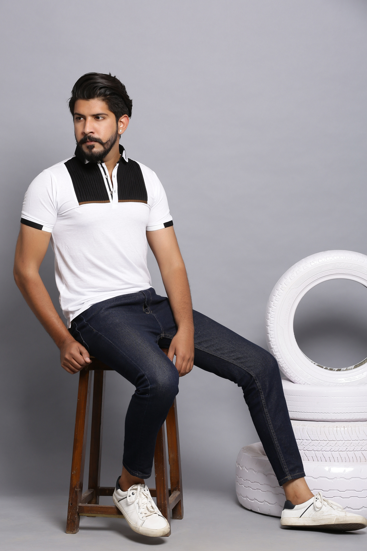Dressed up polo shirt-white