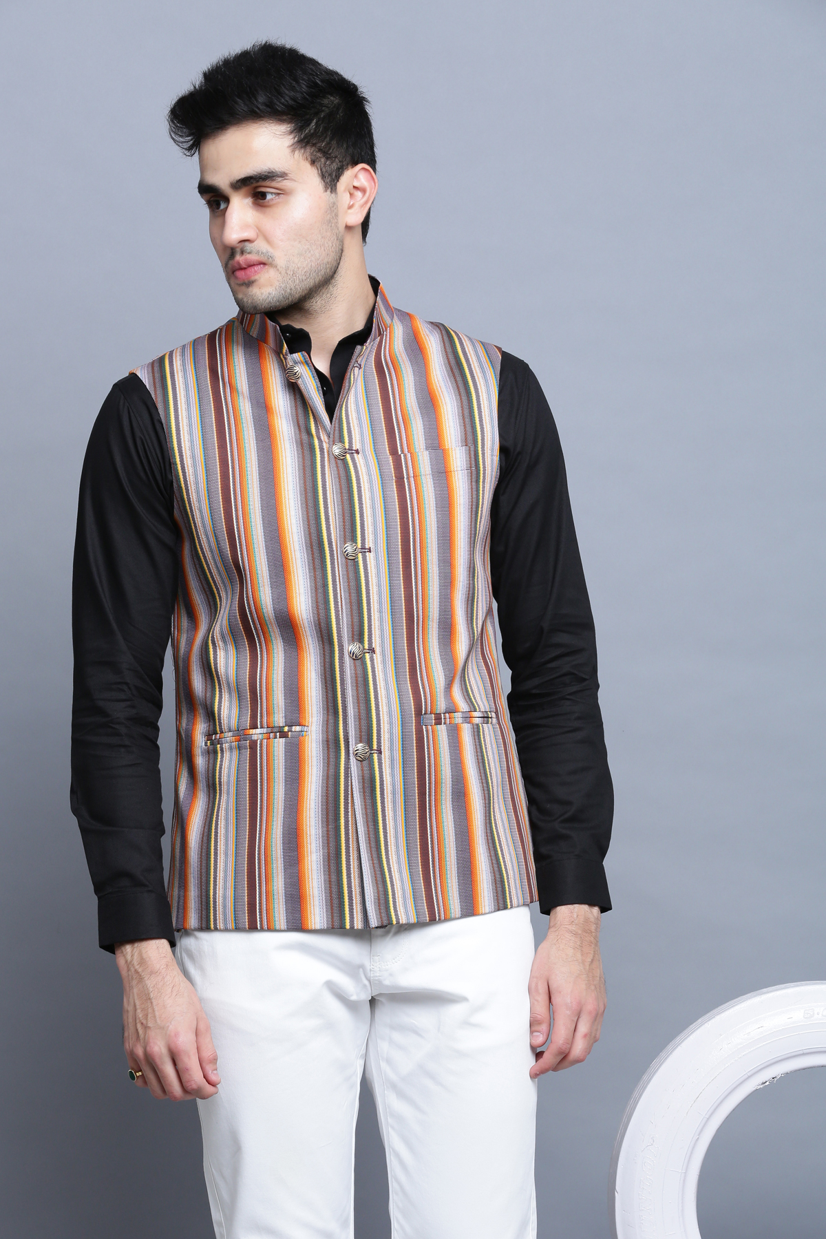 Multi colour paradise Nehru jacket